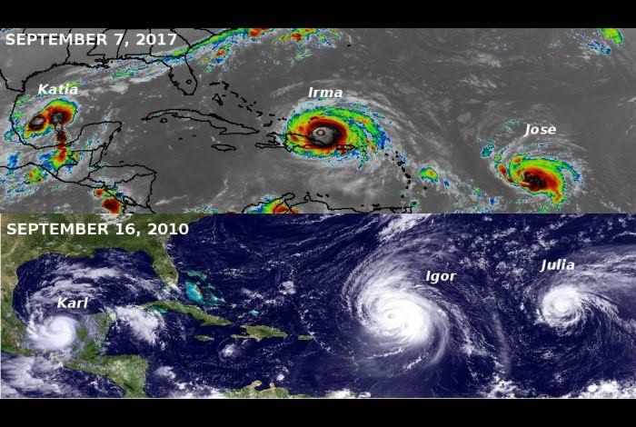 Ingeniero afirma que Harvey e Irma fueron creados por el hombre